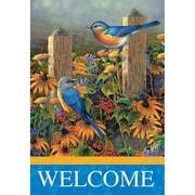 Jozie B Blue Birds 2-Sided Garden Flag; 44'' H x 30'' W