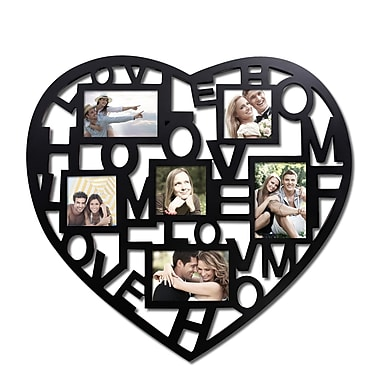 AdecoTrading 3 Opening Decorative ''Heart and Home'' Wall Hanging Collage Picture Frame