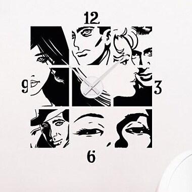 Style and Apply Comic Wall Clock Wall Decal; Dark Gray