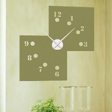 Style and Apply Missing Numbers Wall Clock Wall Decal; Violet