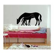 WashingtonWallcoverings Mare and Foal Wall Decal