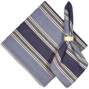 Traders and Company Cold Brook 100pct Cotton Striped Napkins (Set of 6); Blue / White