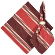 Traders and Company Cold Brook 100pct Cotton Striped Napkins (Set of 6); Red / White