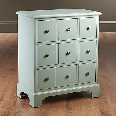 AA Importing 3 Drawer Chest; Light Blue