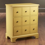AA Importing 3 Drawer Chest; Yellow