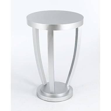 AA Importing End Table; Silver