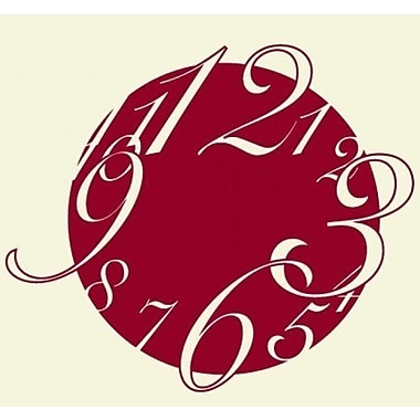 Style and Apply Big Wall Clock Wall Decal; Gold