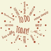 Style and Apply To Do Today Wall Clock Wall Decal; Black