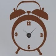 Style and Apply Alarm Wall Clock Wall Decal; Pink