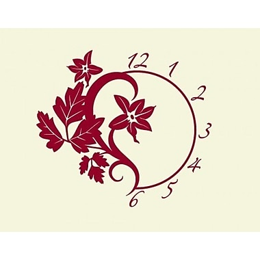 Style and Apply Branch Wall Clock Wall Decal; White