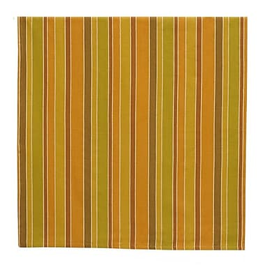 Traders and Company Apple Cider 100pct Cotton Striped Tablecloth; 60'' W x 60'' L