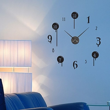 Style and Apply Drip Wall Clock Wall Decal; Pink