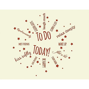 Style and Apply To Do Today Wall Clock Wall Decal; Yellow
