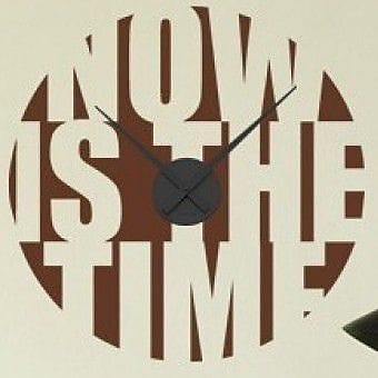 Style and Apply Now is the Time Wall Clock Wall Decal; Royal Blue