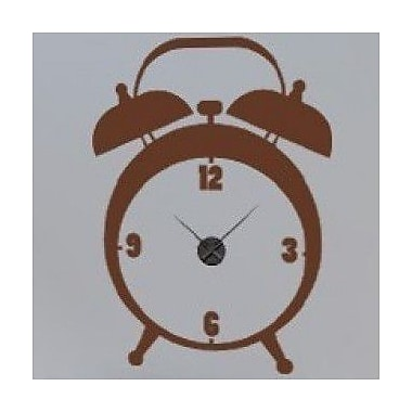 Style and Apply Alarm Wall Clock Wall Decal; Beige