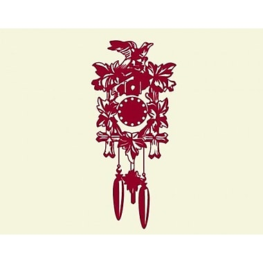 Style and Apply Cuckoo Wall Clock Wall Decal; Dark Red