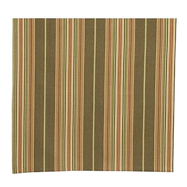 Traders and Company Truffle 100pct Cotton Striped Tablecloth
