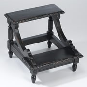 AA Importing 2 Step Wood Step Stool w/ 200 lb. Load Capacity; Black