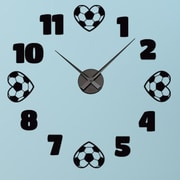 Style and Apply Soccer Wall Clock Wall Decal; Gold