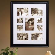 AdecoTrading 9 Opening Decorative Bulletin Board Style Wall Hanging Picture Frame