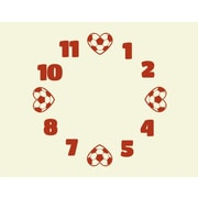 Style and Apply Soccer Wall Clock Wall Decal; Dark Red