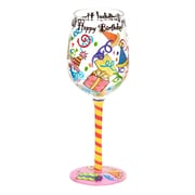 Top Shelf Happy Birthday Wine Glass