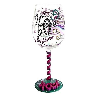 Top Shelf 40-ish Birthday Wine Glass