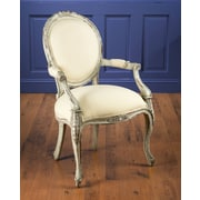 AA Importing Arm Chair; Distressed White