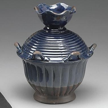 AA Importing Ceramic Vase; Distressed Blue