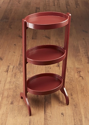 AA Importing Multi-Tiered Plant Stand; Red
