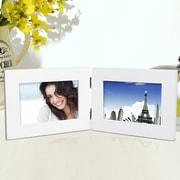 AdecoTrading 2 Opening Decorative Table Desk Top Picture Frame; White