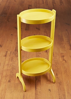 AA Importing Multi-Tiered Plant Stand; Yellow