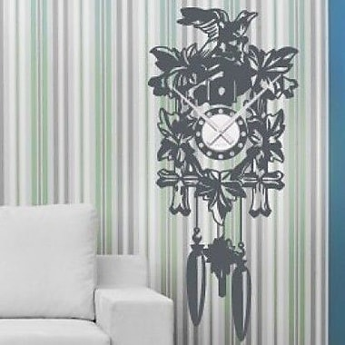 Style and Apply Cuckoo Wall Clock Wall Decal; Black