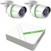 Ezviz – Système de sécurité analogique 4 canaux 720p avec disque dur 1 To et 2 caméras compactes 720p (EZVBD1402B1)