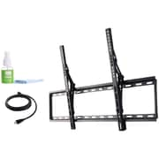 "Fino FT84k2 42""-80"" Extra Large Tilt Mount with HDMi Cable & Screen Cleaner"