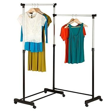 Honey-Can-Do Rotatable Garment Rack, Chrome/Black (GAR-03752)
