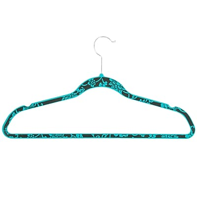 Honey Can Do Velvet Touch Suit Hanger ;Blue Hawaiin Print,20-pack (HNG-03819)