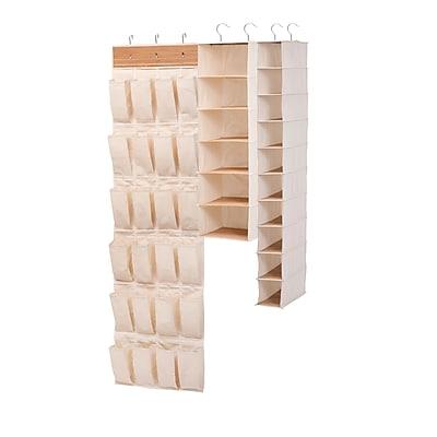 Honey Can Do 3-Piece Bamboo Closet Organization Set, bamboo (SFTX03311)