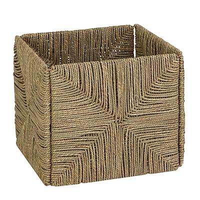 Honey Can Do Woven Folding Seagrass Basket, Brown (STO-03666)