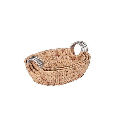 Honey Can Do Oval Water Hyacinth Basket Set, natural (STO-04467)