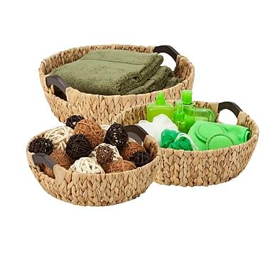 Honey-Can-Do Circular Wood Handled Baskets, Natural (STO-04469)