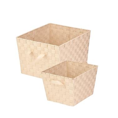 Honey Can Do Double Woven Task-It Basket Set, Creme (STOX05043)