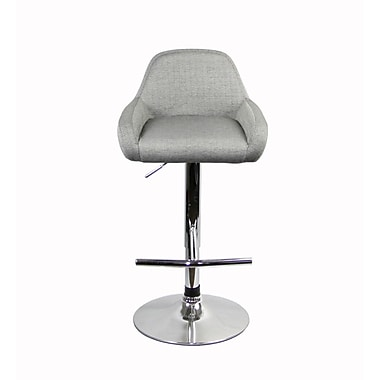 RetailPlus 3093F Barstool with T-Shape Footstep, Grey, 2/Pack