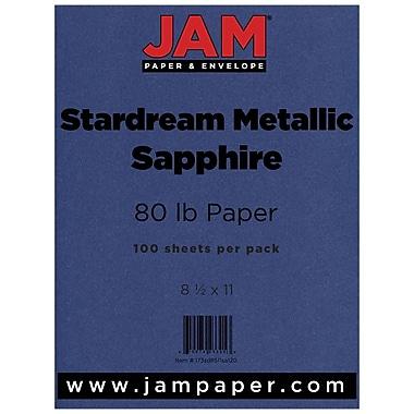 JAM Paper® Metallic Paper, 8.5 x 11, 80lb Stardream Sapphire Blue, 100/pack (173SD8511SA120)