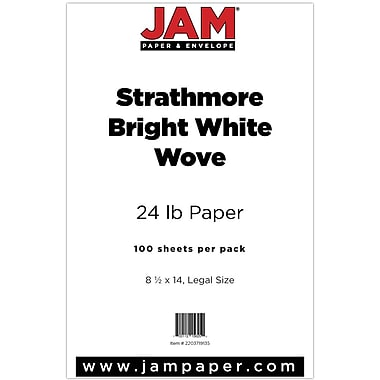 JAM Paper® Strathmore Legal Paper, 8.5 x 14, Bright White Wove, 100/pack (2203719135)