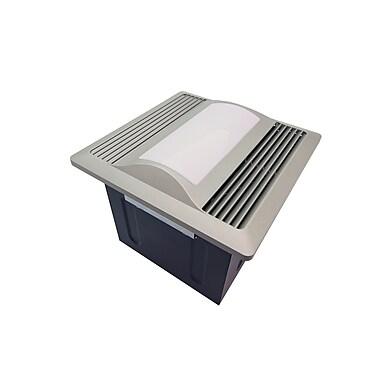 Aero Pure 110 CFM Energy Star Bathroom Fan w/ Light / Nightlight; Satin Nickel