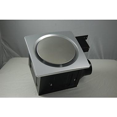 Aero Pure Super Quiet 110 CFM Bathroom Ventilation Fan; Silver