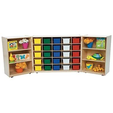 Wood Designs Tri Folding 25 Compartment Shelving Unit w/ Casters