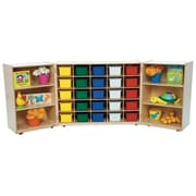 Wood Designs Tri Folding 25 Compartment Shelving Unit w/ Casters