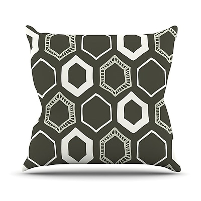 KESS InHouse Hexy Outdoor Throw Pillow